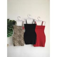 Kit 3 Vestidos Retos de alcinha